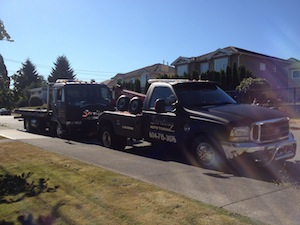 our wrecker and flatbed tow truck