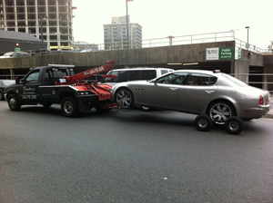 towing maserati with dollies